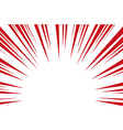 Sun Rays for Comic Books Radial Background vector image vector image