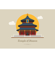 Temple of heaven china eps10 format vector image vector image