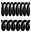 tension spring seamless black symbols vector image vector image