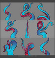 tentacles of an octopus set vector image vector image