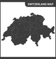 the detailed map of the switzerland with regions vector image vector image