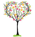 tree heart shaped vector image vector image