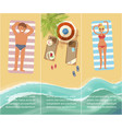 vacation in tropical countries banner vector image vector image