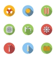 Various energy icons set flat style vector image