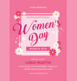 womens day flyer template vector image vector image