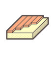 wood floor construction and material icon design vector image