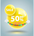 yellow balls sale banner vector image vector image
