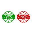 yes and no stamp colored vector image