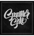 Summer sale The inscription on the blackboard vector image