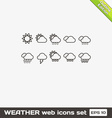 Weather Web Icons Set vector image