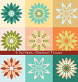 9 pattern abstract flower vector image vector image