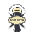 a glass fresh beer and logos for text vector image vector image