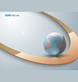 abstract background with globe 2 vector image vector image