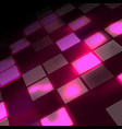 abstract hi-tech pink background in perspective vector image