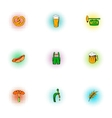 Ale icons set pop-art style vector image vector image