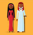 arab adult man and woman vector image vector image