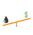 Balance between oil and dollar value Dollar sign vector image vector image