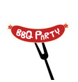 Bbq party sausage on fork background image