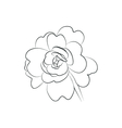 beautiful flower simple black lined icon on white vector image vector image