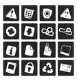 Black Web site and computer Icons vector image vector image