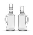 blank bleach plastic bottle with handle vector image vector image