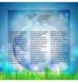 Blue Abstract background of globe with grass vector image