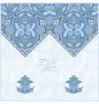 blue colour oriental decorative template for vector image
