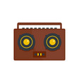boombox icon flat style vector image vector image