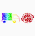 bright dotted lorry icon and scratched vector image vector image