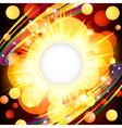 Brightly Explosion Web design vector image vector image