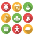 Christmas Icons with Long Shadows vector image vector image