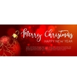 Christmas web banners set with red and gold ball vector image vector image