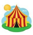 circus tent flat design vector image vector image