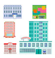 city public buildings houses flat design office vector image vector image