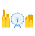 colored cityscape of london with the london eye vector image vector image