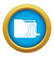 computer worm icon blue isolated vector image vector image