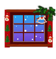 cozy interior home window with decoraions and vector image vector image