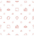 creative icons pattern seamless white background vector image vector image