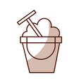 cute sand jar cartoon vector image vector image