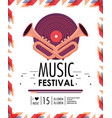 disco and cornets to music festival celebration vector image vector image