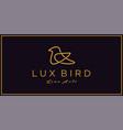 dove bird logo design vector image