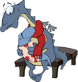 Dragon mum and the child dragon cartoon vector image