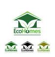 eco homes logo vector image