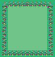 frame greeting of the colors square vector image