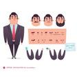 funny office boy cartoon vector image vector image
