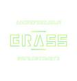grass font alphabet letters vector image