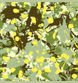 green shades yellow beige camouflage ink paint vector image vector image