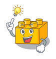 have an idea plastic building tyos shaped on vector image vector image