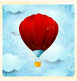 hot air balloon vintage card vector image