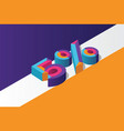 isometric 5 percent off 3d sale background vector image vector image